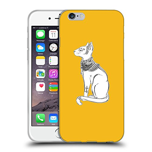 GoGoMobile Coque de Protection TPU Silicone Case pour // Q09520602 Déesse bastet 2 ambre // Apple iPhone 6 4.7""