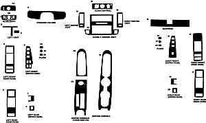Rvinyl Rdash Dash Kit Decal Trim for Chevrolet Caprice 1994-1996 - Camouflage (Digital)