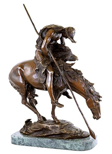 Kunst & Ambiente End of The Trail - Bronze Sculpture - James Earle Fraser - Horse Statues for Sale - Native American Statue (Sale Horse Sculptures Wooden)