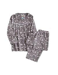 [Plum Blossom] Cotton Maternity Pajamas Set Nightwear Breastfeeding Pajamas