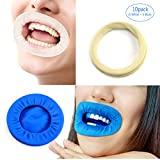 EZGO 10 Pcs Dental Disposable Non Latex Rubber Cheek Retractor - Rubber Dam and Mouth Gag Opener Isolates Teeth and Protects Mouth From Fluids - Infections & Harsh Chemicals