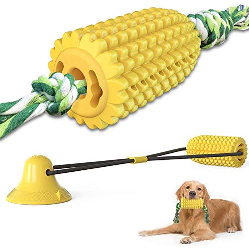 2 Stücke Maisförmig Hundezahnbürste Keilförmiger Hundezahnbürste Kau Mais Hundespielzeug Unzerstörbar Mais Mit Seil und…