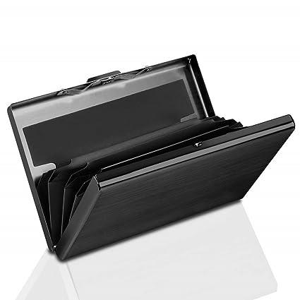 Dlife Billetera Bloqueadora RFID | Protector de Tarjeta Slim Secure Metal para Hombres Mujeres, Soporte de Tarjeta RFID para 6 Tarjetas de Crédito - ...