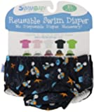 My Swim Baby Diaper New Sizing, Navy Sea Friends, X-Large