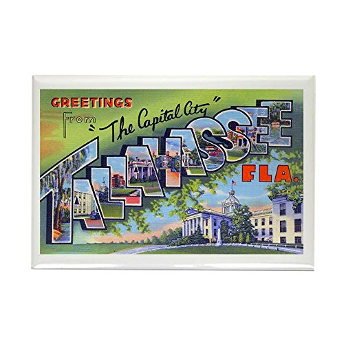 CafePress Tallahassee Florida Greetings Rectangle Magnet, 2