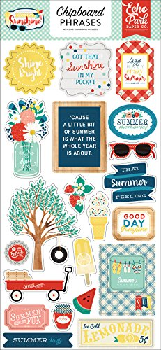 Echo Park Paper Company Good Day Sunshine 6x13 Chipboard Phrases ()