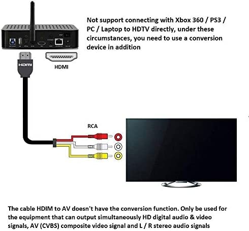 Cable HDMI a RCA, Chenduomi de 1,5 m HDMI Macho a 3 RCA de vídeo y Audio AV componente convertidor Cable Adaptador para HDTV: Amazon.es: Electrónica