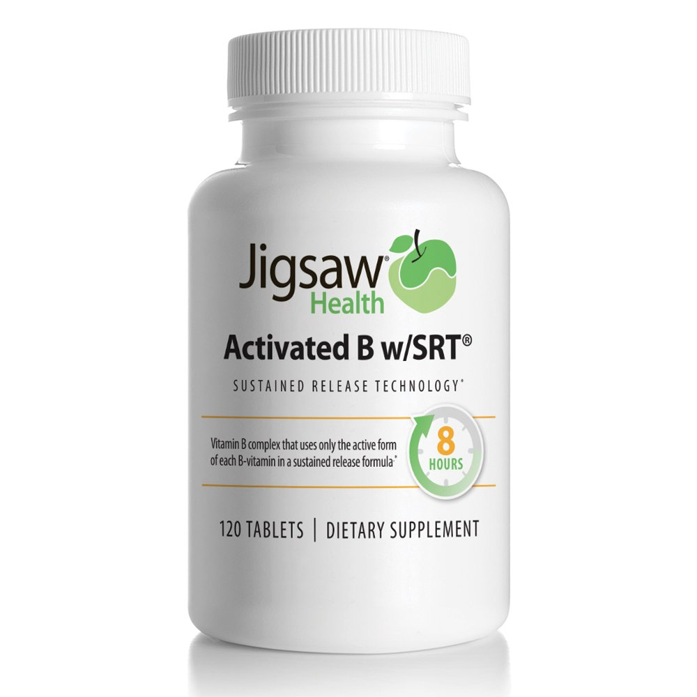 Jigsaw Activated B w/SRT – Slow Release B Complex Supplement Including Only The Active Forms Of B Vitamins – Super Absorbable Active Vitamin B Complex Tablets With A Timed Release.