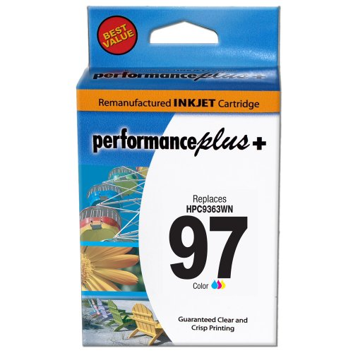 Performance Plus Remanufactured HP97 Large Tri-Color Inkjet Cartridge (C9363WN #97) - Large Tri Color Ink