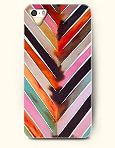 OOFIT Aztec Indian Chevron Zigzag Native American Pattern Hard Case for Apple iPhone 5 5S ( iPhone 5C Excluded ) Multi-Colored Stripes And Triangle