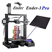 "CREALITY Ender 3 Pro 3D Printer with Upgrade Removable Magnetic Bed/Tempered Glass Plate/UL Certified Power Supply for Home and School Use 8.6"" x 8.6"" x 9.8"" by UCHOOSE"
