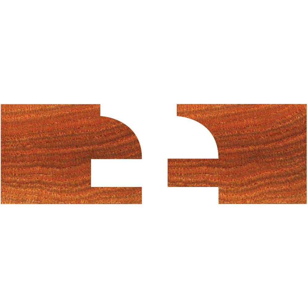 Grizzly C1393 Carbide Tipped Quarter Round Stile and Rail Set with 1/2-Inch Shank