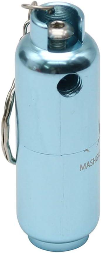 QINJLI Tubería del Tanque de Gas Creativa, Mini Tubo Azul Desmontable con Llavero