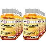 St.Botanica COD Liver Oil 525 - 90 Softgels- Pack Of 10