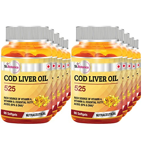 St.Botanica COD Liver Oil 525 - 90 Softgels- Pack Of 10 by St. Botanica
