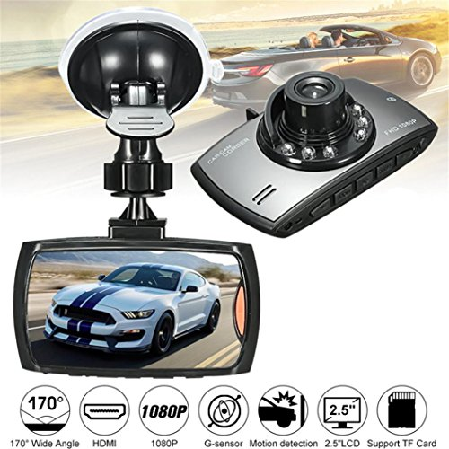 """Ltrotted HD 2.5"""" LCD 1080P Car DVR Vehicle Camera ,Video Recorder Dash Cam Night Vision"""