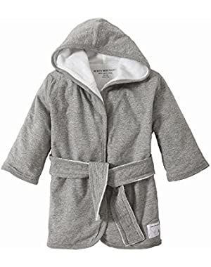 Infant Hooded Robe, 100% Organic Cotton (Heather Gray)