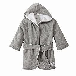 Burt\'s Bees Baby - Infant Hooded Robe, 100% Organic Cotton (Heather Gray)