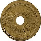 Ekena Millwork CM18BIGLS Bailey Ceiling Medallion, 18'' OD x 3 3/4'' ID x 1 1/2'' P, Gold