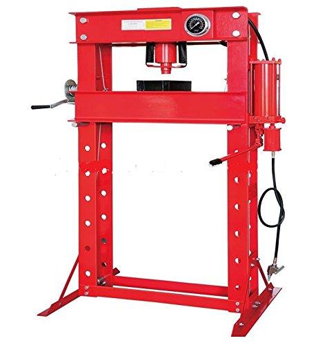 50 Ton Hydraulic Shop Press (50 Ton Shop Press with Air Pump Pressure Gauge H-Frame Hydraulic Equipment 28