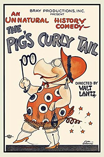Buyenlarge Pig - Buyenlarge The Pig's Curly Tail Paper Poster, 12