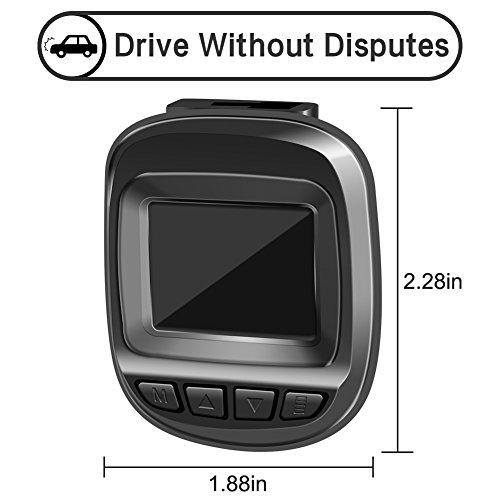 Actionpie Dash Cam 1080P Car DVR Dashboard Camera Full HD Recorder, G-sensor, WDR, Loop Recording, (BLACK) by Actionpie (Image #5)