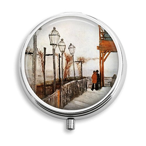 La Galette Montmartre Moulin De (Van Gogh Le Moulin de la Galette Terrace & Observation Deck , Montmartre Pill Box Pill Holder Pill Case Medicine Holder Mint Tin Vitamin Holder Small Craft Container Handmade Gifts For Her)