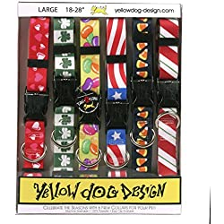 """Yellow Dog Design Seasonal Dog Collar Calendar Pack with Tag-A-Long-Size Large-1"""" Wide and fits Neck 18 to 28"""""""