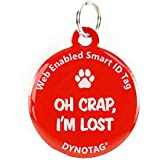 Dynotag Web Enabled QR Code Smart Deluxe Coated Steel Pet Tag. 4 Fun Designs to Choose From.