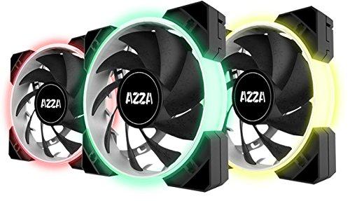 AZZA Hurricane RGB LITE, 3x120mm RGB Fans w/RF Controller -B