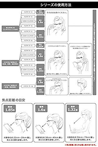 Hazuki Loupe Magnifier Compact Clear Lens 1.6 X Blue Light 35% Cut (Black) by Hazuki (Image #5)