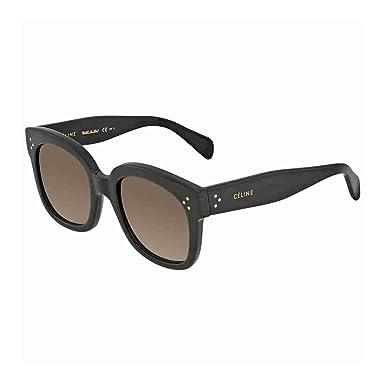 5ea606d5df5 Celine 41805 S 807 Black New Audrey Square Sunglasses Lens Category 2 Size  54mm  Amazon.co.uk  Clothing