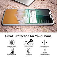 iPhone X Screen Protector,9H Hardness iPhone X Front Back Tempered Glass Screen Protector 5D Full Coverage(white)((1 Front and 1 Back) from Ehpow