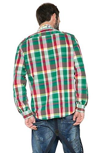 Desigual Herrenhemd Hemd Modell CAM CUADROS PATCH 61C12A3 1000