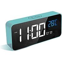 LATEC Reloj Despertador Digital, LED Pantalla Reloj Alarma Inteligente con Temperatura, Puerto de Carga USB, 12/24 Horas…