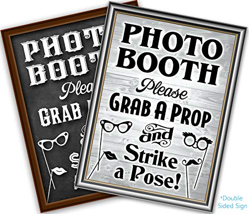Bigtime Signs Photo Booth Props Sign, 2-Sided, Use