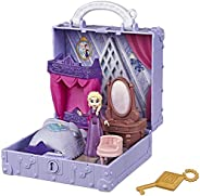 Disney Frozen Pop Adventures Elsa's Bedroom Pop-Up Playset with Handle, Including Elsa Doll, Diary, Chair,