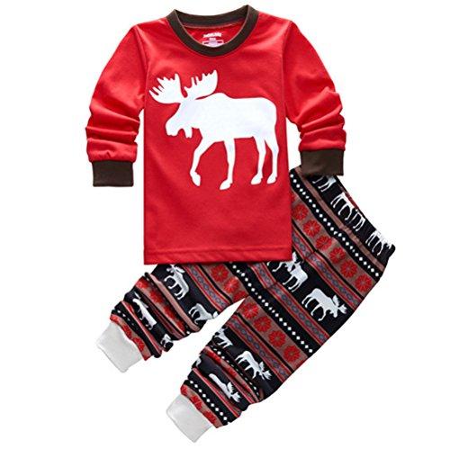 roludom-christmas-deer-pajamas-toddler-sleepwear-clothes-t-shirt-pants-set-for-kids-6t