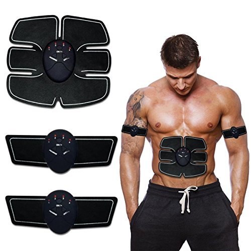 PU LifeStyle Hi-intensity Electro Muscle Stimulation Fitness Toning Abdominal Massage Belt, 1.2 Pound