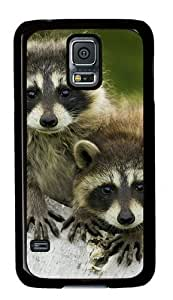 Baby Raccoon 002 Samsung Galaxy S5 Hard Shell with Black Edges Cover Case by Lilyshouse