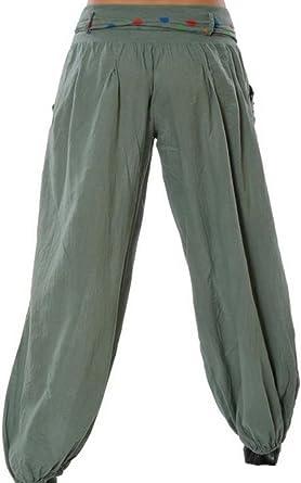 Gladiolusa Mujer Pantalones De Yoga Pantalones Harem Pantalon Baggy Pantalones Harem Boho 5xl Amazon Es Ropa Y Accesorios