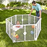 PORTABLE BIG PLAYPEN FOR YOUR BABY KID OR LOVELY PET - 6 PANEL GRAY COLOR