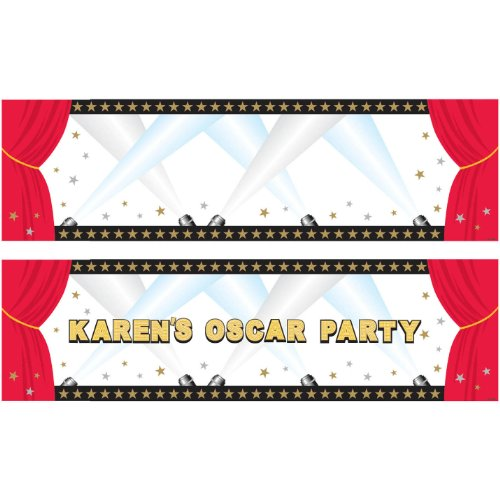 Hollywood Personalized Giant Sign Party Banner, 120 stickers, 65