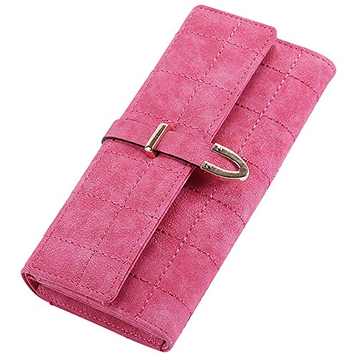Card Sky Holder Coin Purse Credit Blue Hot Soft Long Leather ID Fashion Women's Wallet Pink Cckuu nq8v7zUwU