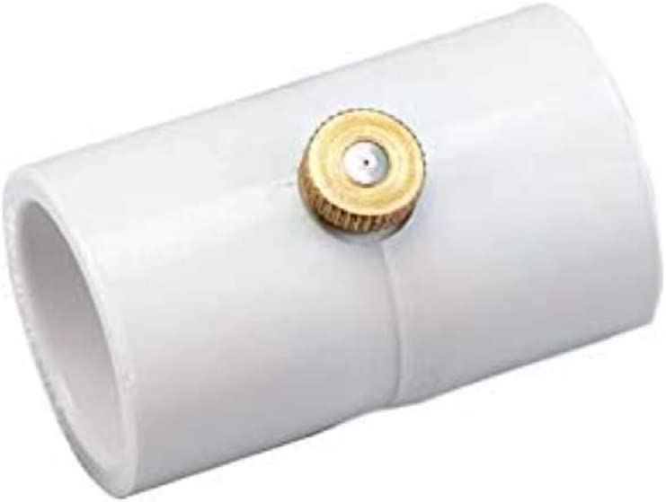 RUITN 1/2 Inch PVC Coupling with Brass Mist Nozzle (Pack of 20