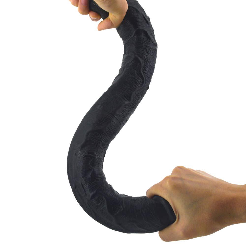 SYXL Dǐldo Masturbación Femenina Real Dildo Dǐldo Dǐldo Dǐldo G Masaje masturbación Orgasmo. (46 * 4.3 cm) (Color : Negro) 37a227
