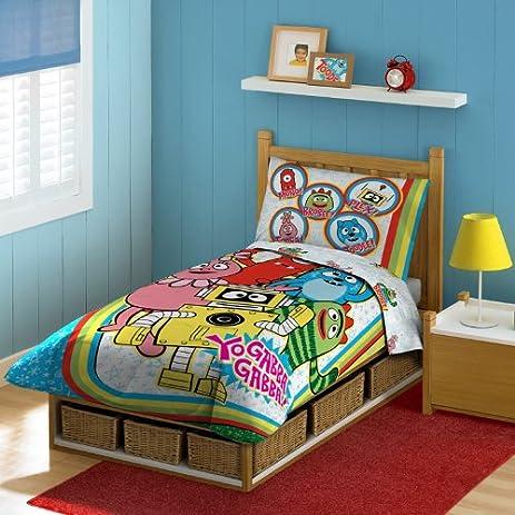 Amazon Nickelodeon Yo Gabba Gabba Toddler Bedding Set Home Extraordinary Yo Gabba Gabba Bedroom Decor
