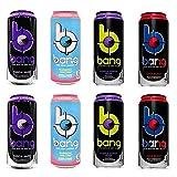 VPX Bang Variety - Rainbow Unicorn, Starblast, Purple Guava Pear, Purple Haze 16fl.oz. (Pack of 8)