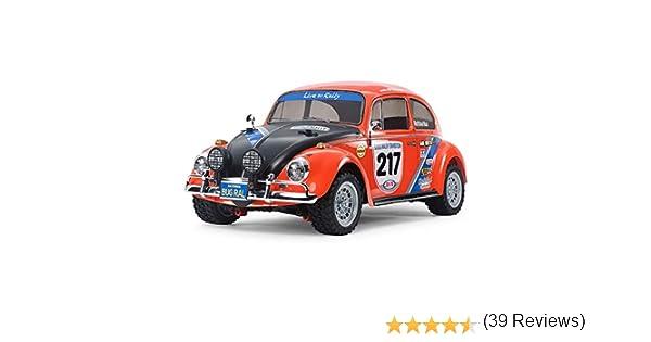 Tamiya 58650 58650-1:10 RC VW Beetle Rally MF-01X Coche teledirigido construcci/ón de maquetas, aficiones, Construir, sin lacar