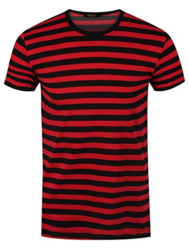 Grindstore Men's Striped T-Shirt Black and -